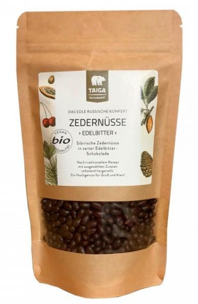 Zedernnüsse in Edelbitter-Schokolade - bio (200 g)